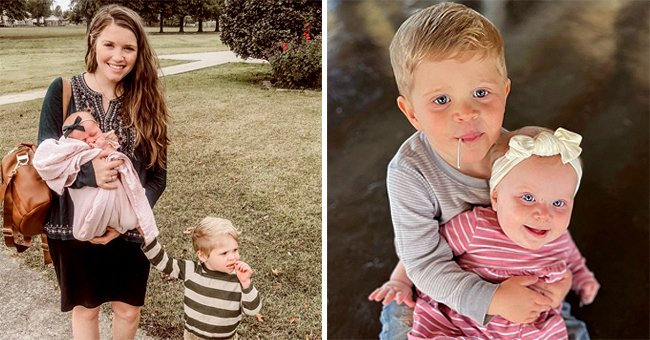 Joy-Anna Duggar's 3-Year-Old Son Gideon Cuddling His Baby Sister Evy in New Photos Is Adorable