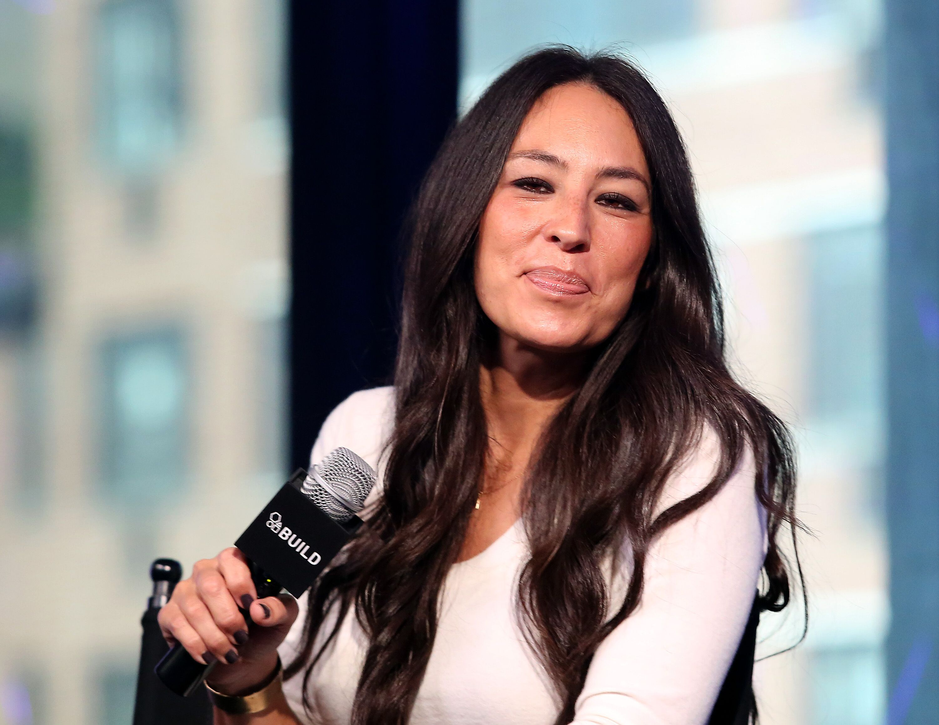 """Designer Joanna Gaines appear to promote """"The Magnolia Story"""" during the AOL BUILD Series at AOL HQ on October 19, 2016. 