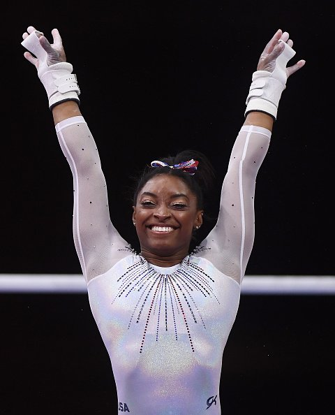 Simone Biles at FIG Artistic Gymnastics World Championships on October 10, 2019 in Stuttgart, Germany. | Photo: Getty Images