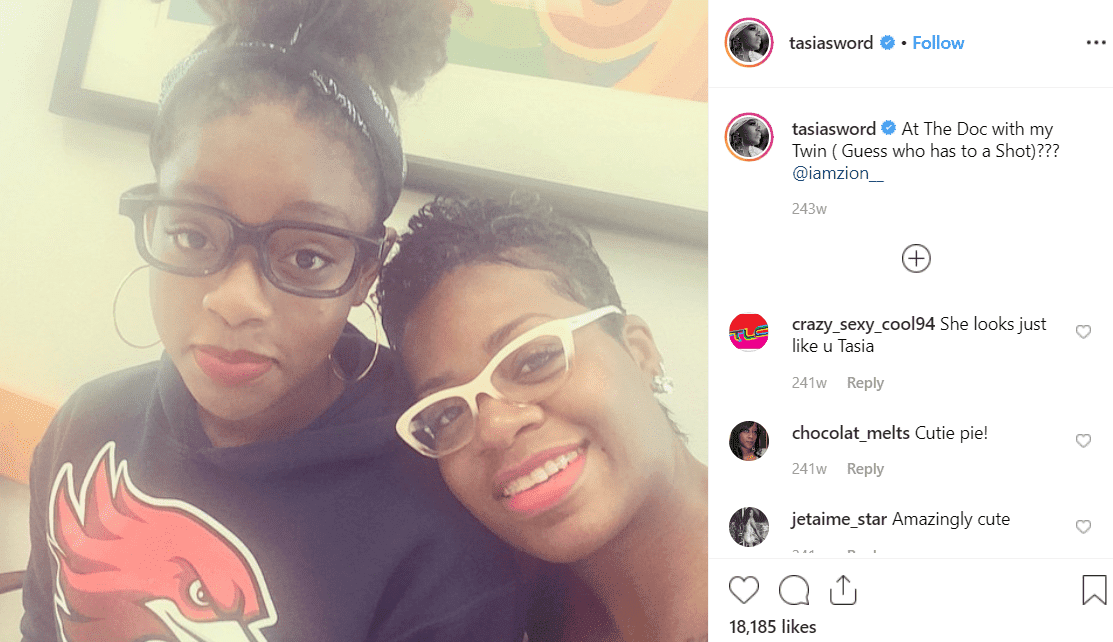 Zion & Fantasia. | Photo: Instagram/Fantasia Taylor