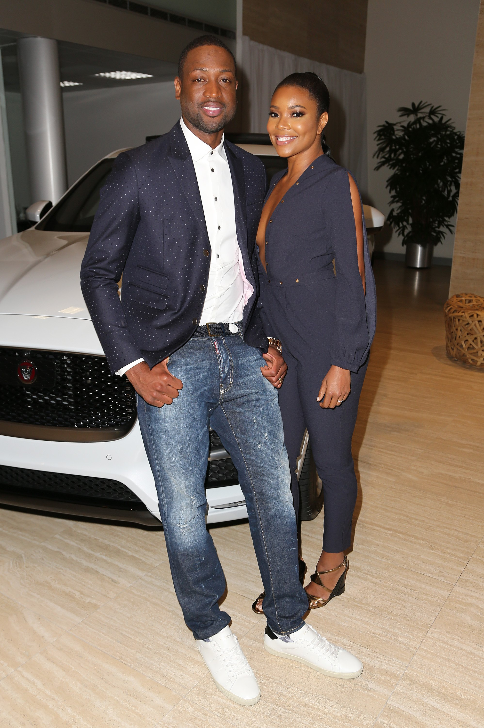 Source: Getty Images l Dwyane Wade and Gabrielle Union at Dwyane Wade's new car launch at The Collection on June 15, 2016