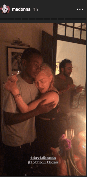 Madonna celebrates her son, David Banda's 15th birthday on September 24, 2020 | Instagram Story/madonna