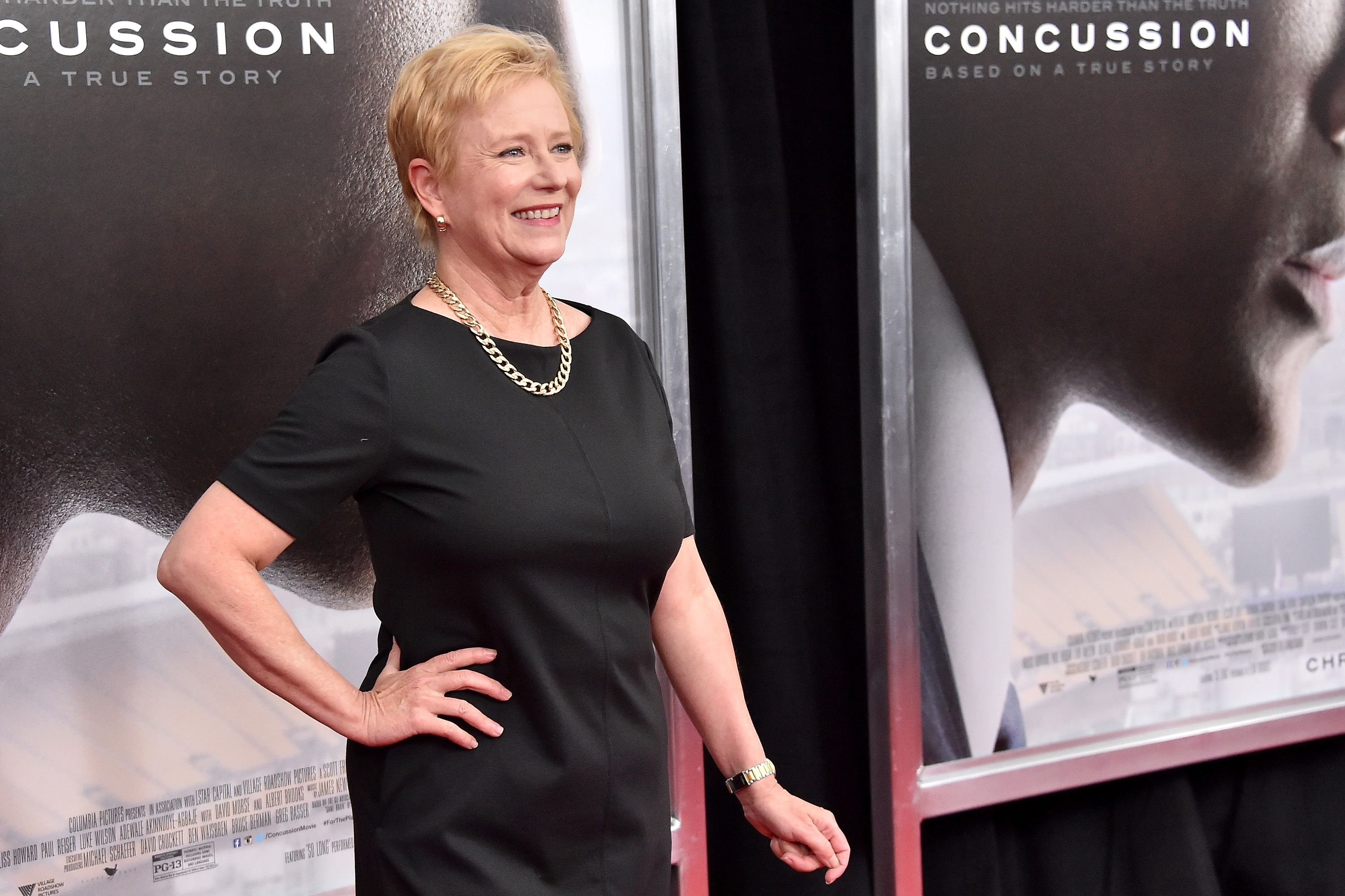 "Eve Plumb attends the ""Concussion"" New York Premiere at AMC Loews Lincoln Square on December 16, 2015 in New York City. 