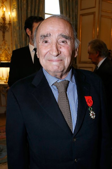 "Claude Brasseur is elevated to the rank of ""Officier de la Legion d'Honneur"" at Elysee Palace on March 13, 2017 in Paris, France. 