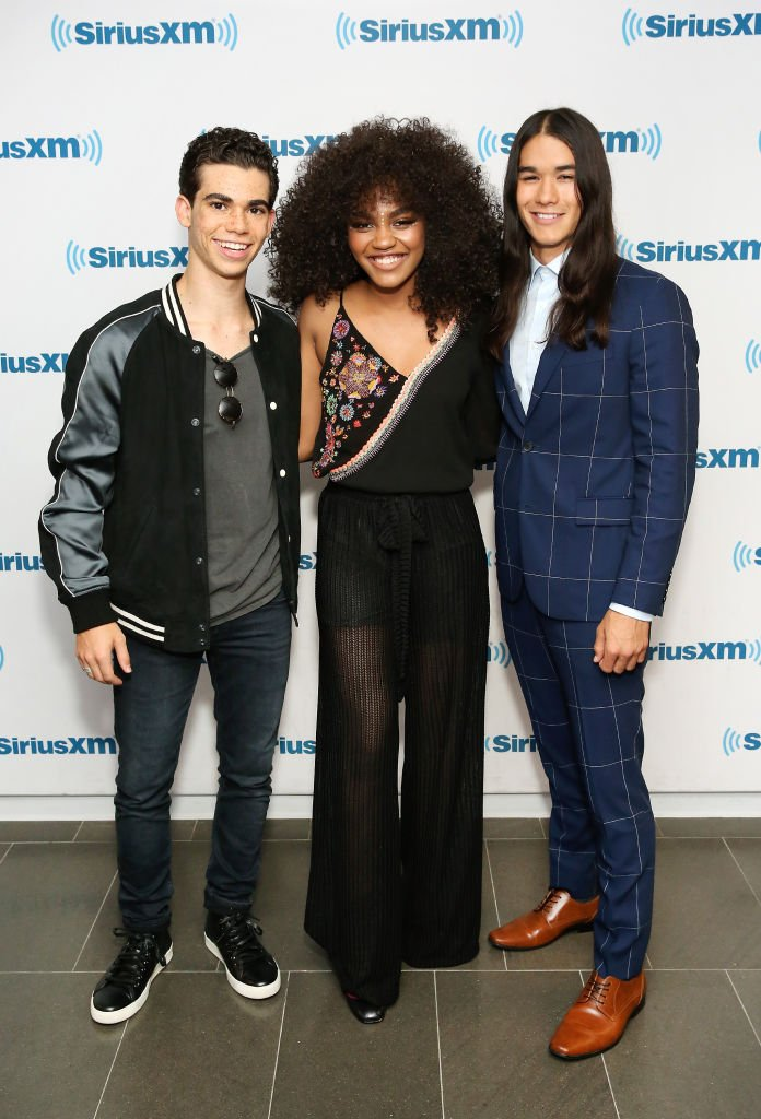 China Anne McClain, Cameron Boyce and Booboo Stewart visit SiriusXM Studios on July 18, 2017 in New York City. | Photo: Getty Images