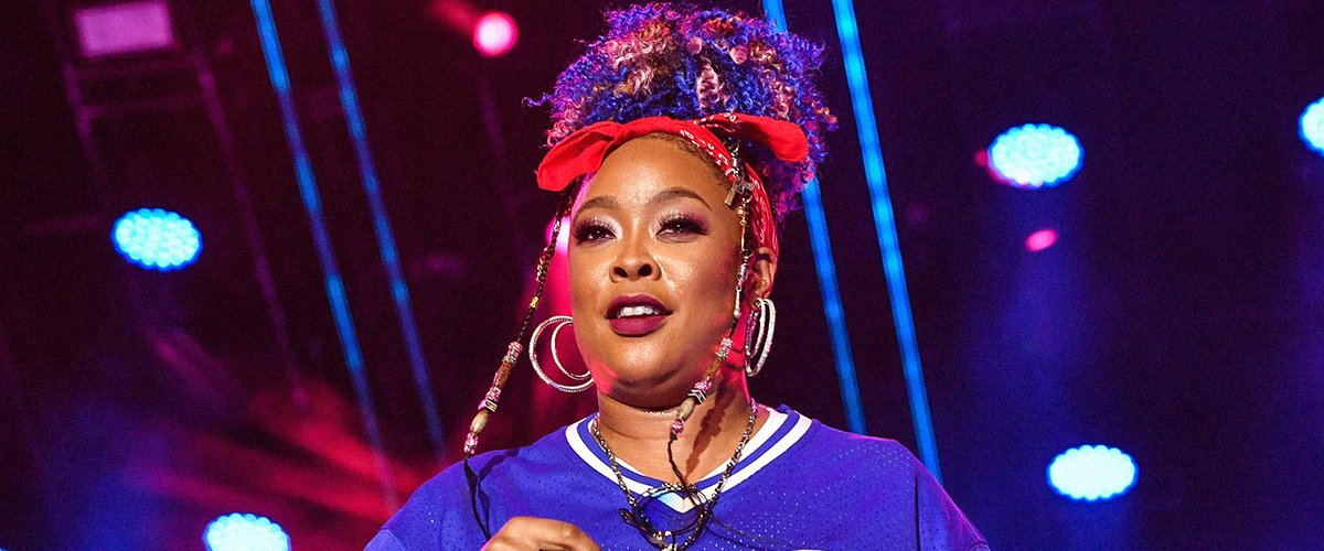 Da Brat & Girlfriend Jesseca Dupart Are a Gorgeous Couple Matching in Purple Outfits in Photo