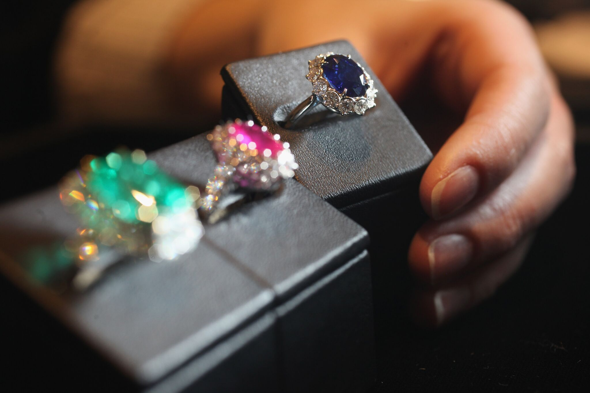 Princess Diana's Sapphire ring amongst others | Getty Images