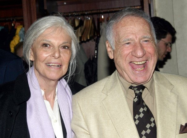 "Anne Bancroft and Mel Brooks at the Off-Broadway Play ""Squeeze Box"" at The West Bank Cafe 