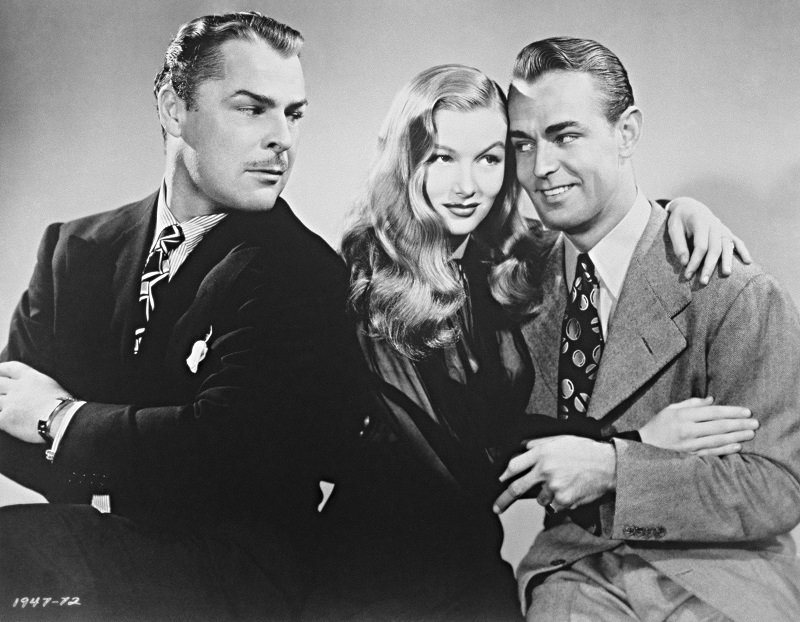 """Brian Donlevy, Veronica Lake, and Alan Ladd in the 1942 film """"The Glass Key"""" 