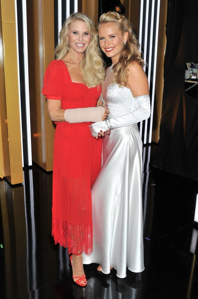 "Christie Brinkley (L) and Sailor Lee Brinkley-Cook attend the ""Dancing With The Stars"" Season 28 show at CBS Television City. 