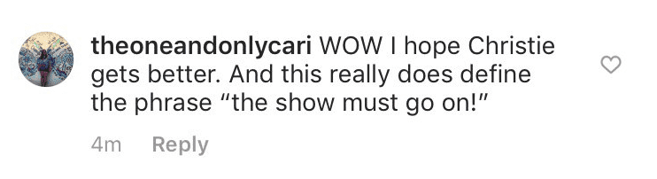 """Fan's comment on the post updated by the official page of """"DWTS."""" 