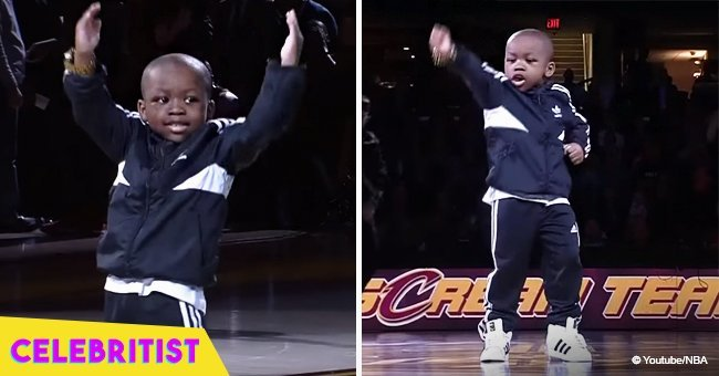 Little boy steals the show with his dance at NBA game