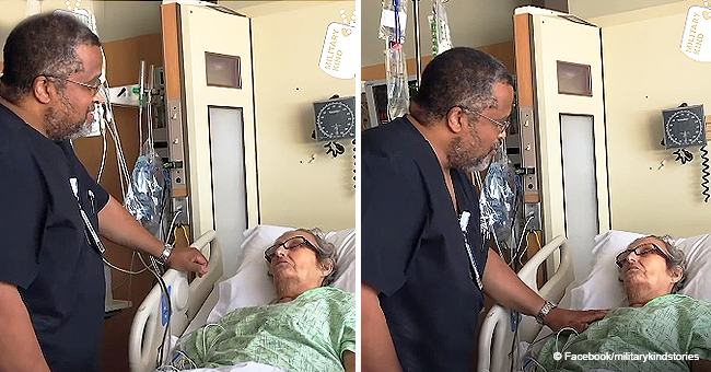 Air Force Veteran Nurse Holds Back Tears as He Sings Tender Song to Terminal Patient in Viral Video