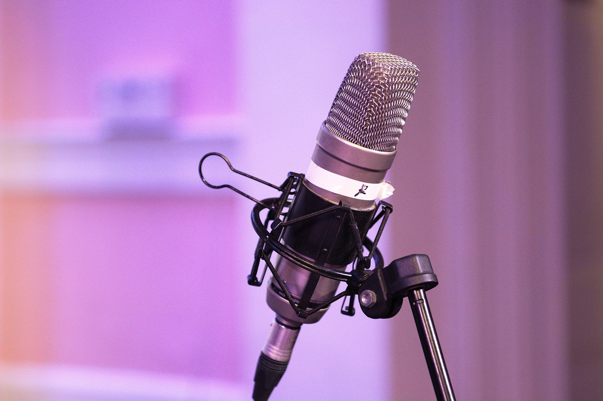 Pictured: Podcast equipment consisting of a microphone for audio or sound output   Photo: Pixabay