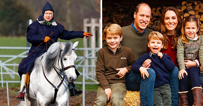 The Times: Prince William's Kids George, Charlotte & Louis Ride Their 1st Ponies like the Queen