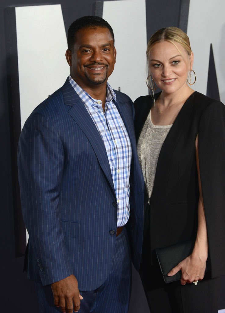 """Alfonso Ribeiro and Angela Unkrich arrive for Paramount Pictures' Premiere Of """"Gemini Man"""" held at TCL Chinese Theatre 