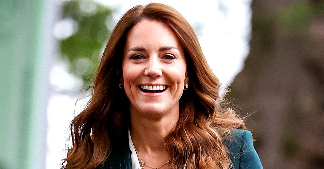 Kate Middleton Looks Chic In a Teal Suit and Polka Dot Top For a Day of Engagements in Edinburgh