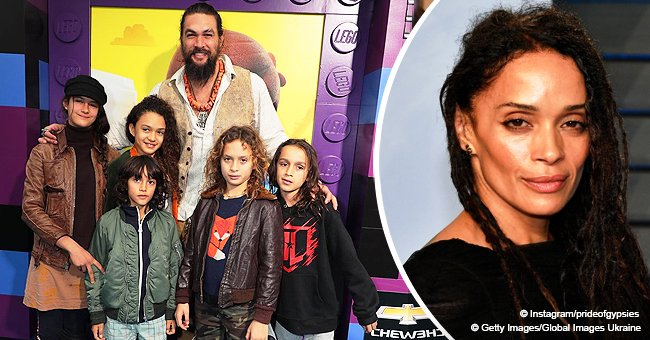Lisa Bonet's husband Jason Momoa is on daddy duty as he takes his kids to the movies