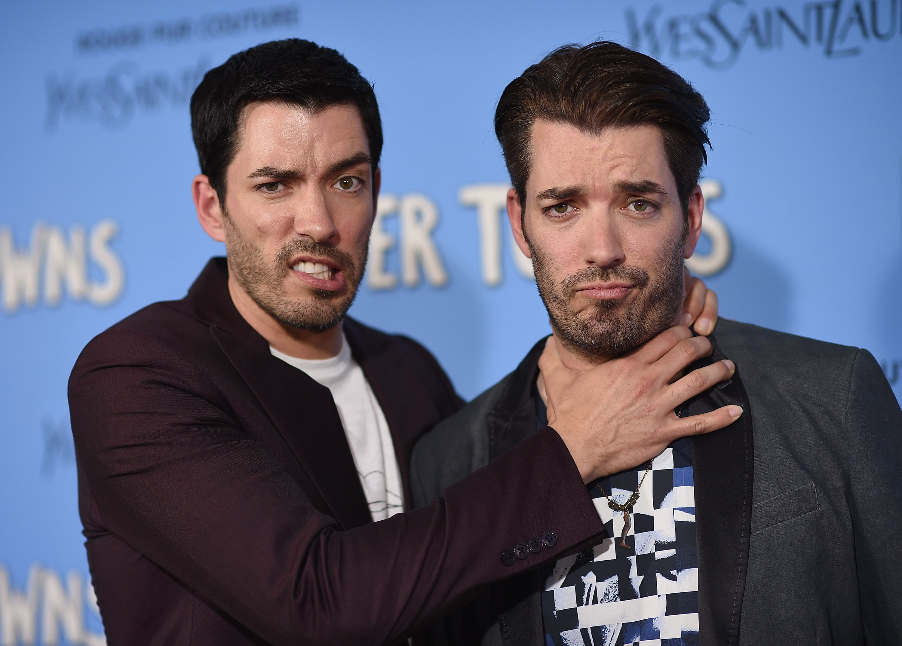 "Jonathan and Drew Scott attend the premiere of ""Paper Towns"" in New York City on July 21, 2015 