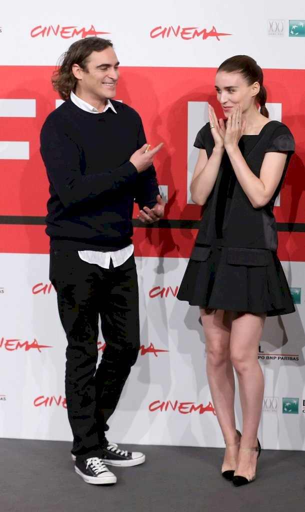Joaquin Phoenix and Rooney Mara during the 8th Rome Film Festival. Photo: Getty Images