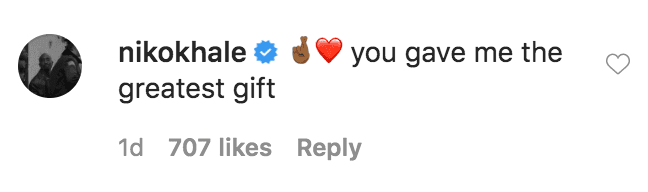 Niko Khale commented on a video of Keyshia Colepresenting him with a custom made cake on Father's Day | Source: Instagram.com/keyshiacole