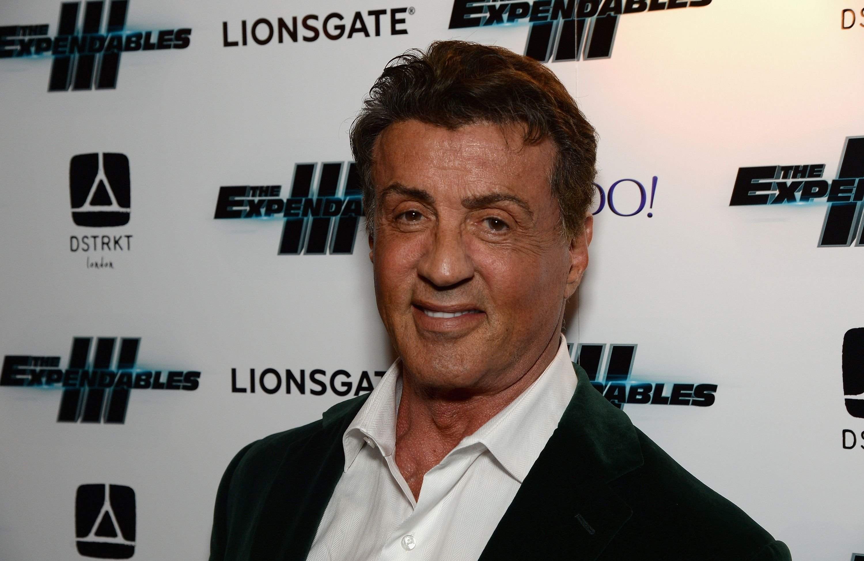 """Sylvester Stallone during """"The Expendables 3"""" after party at Dstrkt on August 4, 2014 in London, England. The Expendables 3 is released on August 14, 2014. 