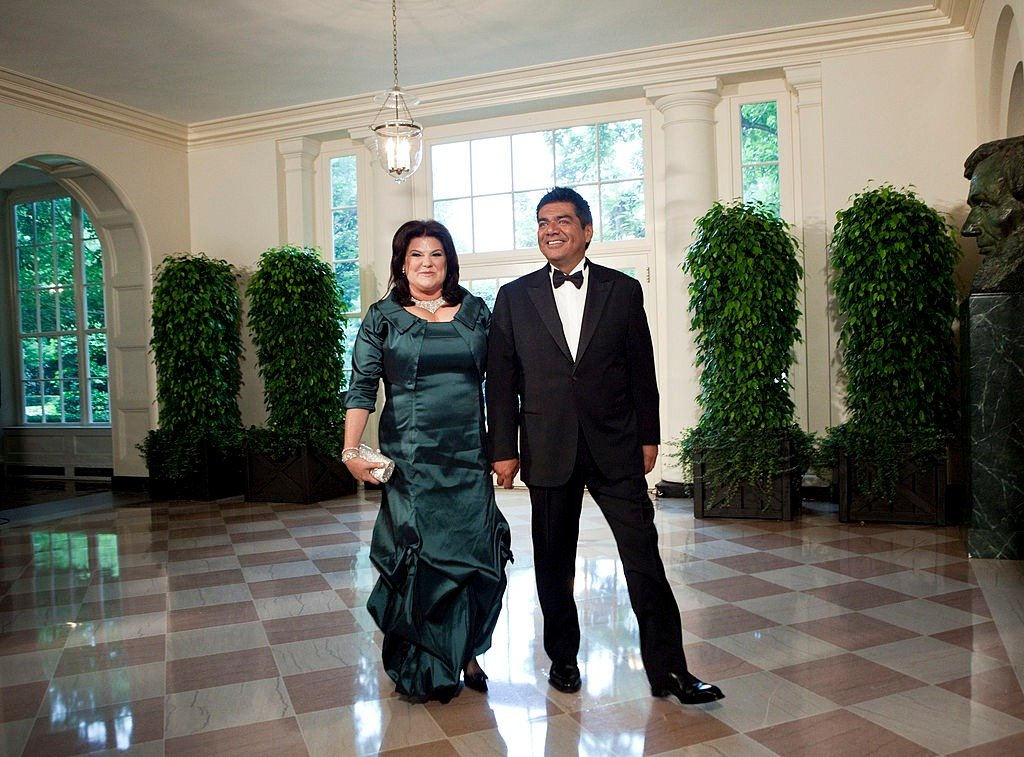 Comedian George Lopez  and Ann M. Lopez arrive at the White House for a state dinner May 19, 2010 in Washington, DC   Photo: Getty Images
