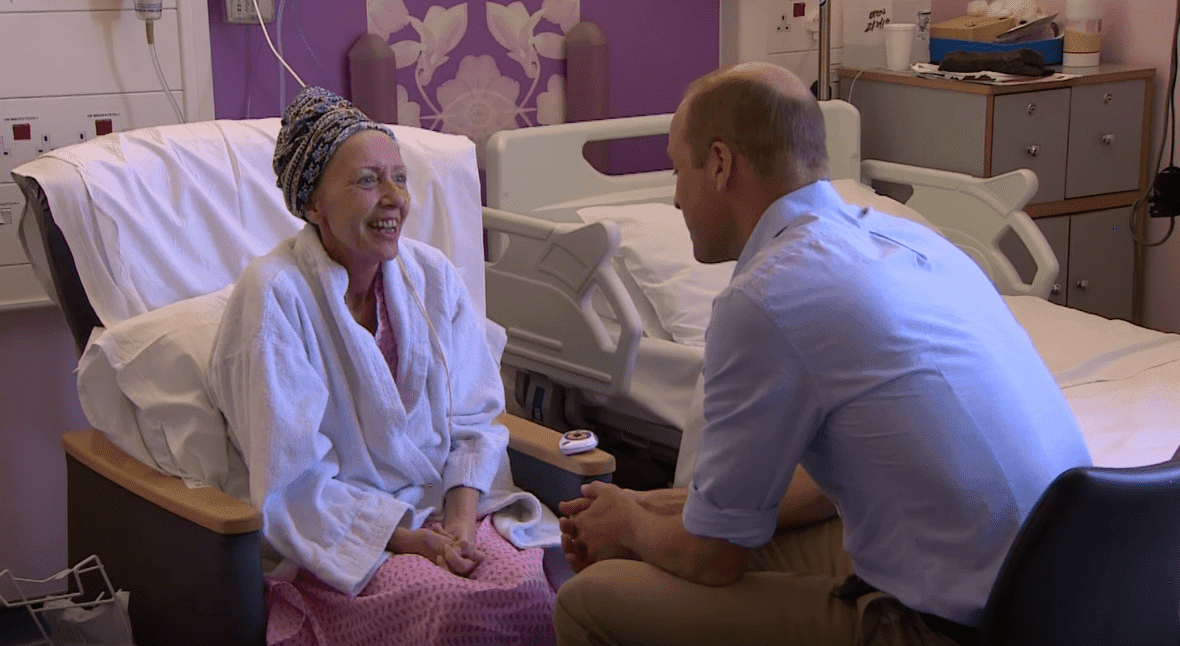 Prince William talks to a patient at The Royal Marsden. | Source: YouTube/TheRoyalFamilyChannel