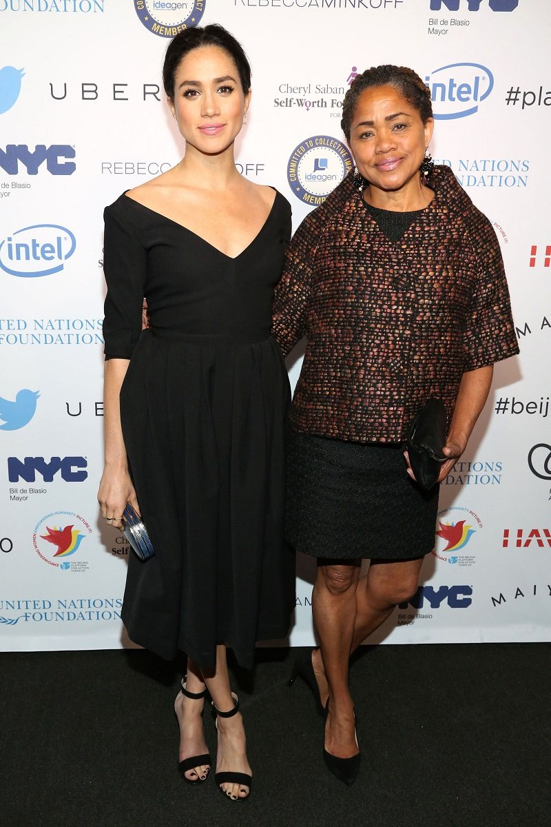 Meghan Markle and Doria Ragland on March 10, 2015 in New York City   Photo: Getty Images