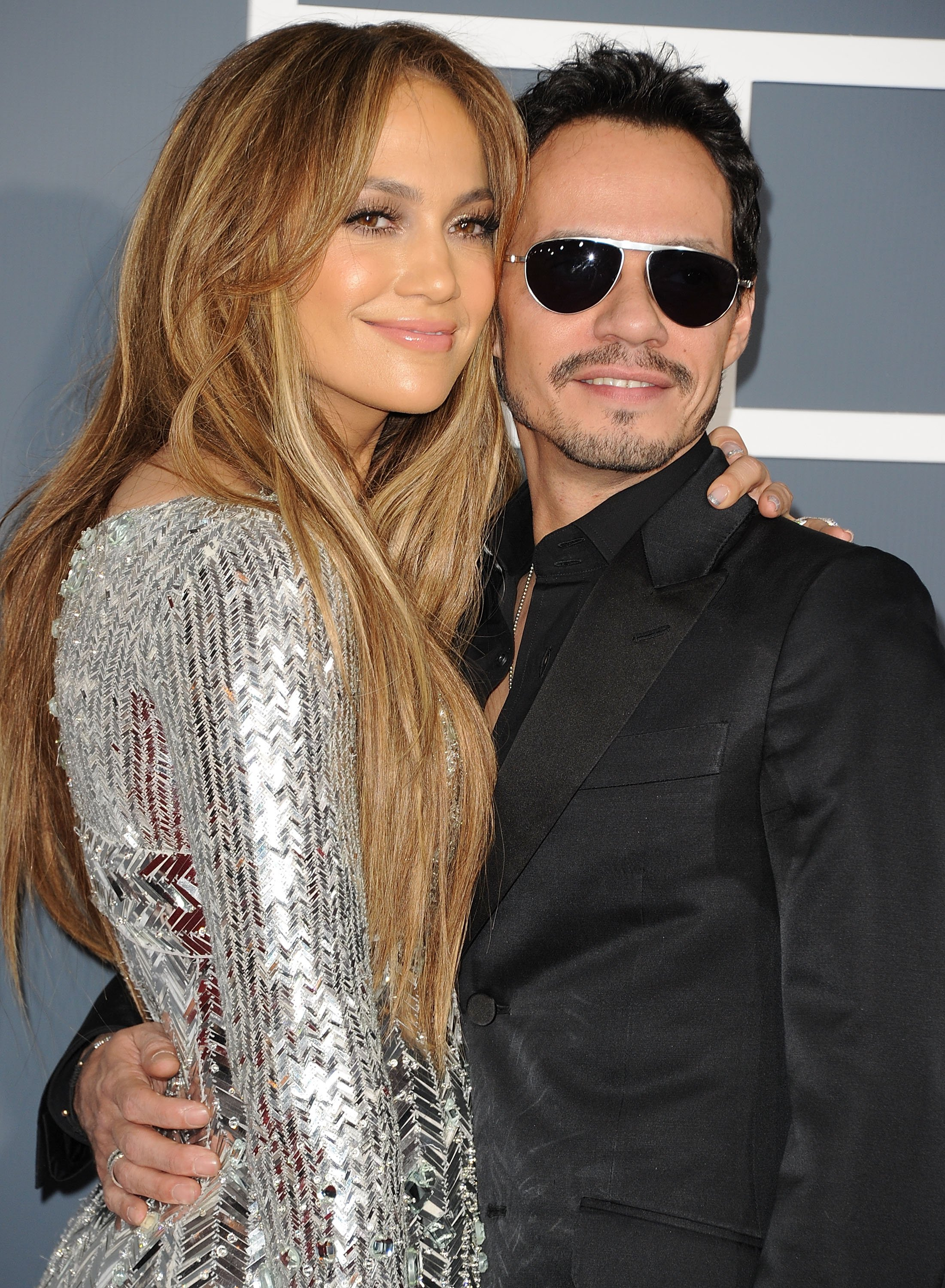 Jennifer Lopez and singer Marc Anthony arrive at The 53rd Annual GRAMMY Awards held at Staples Center on February 13, 2011, in Los Angeles, California. | Source: Getty Images.