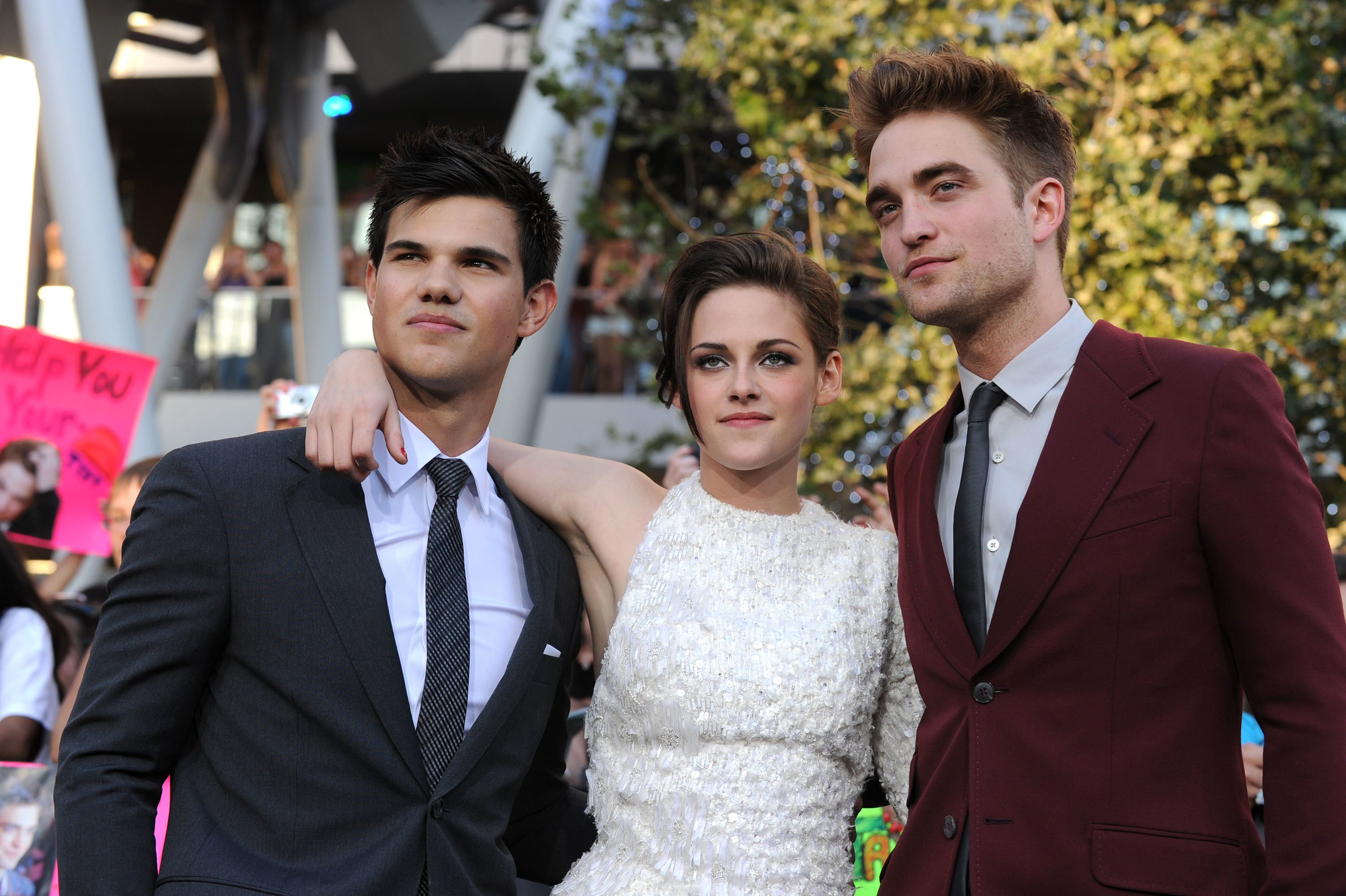 Twilight stars, Taylor Lautner, Kristen Stewart and Robert Pattinson| Photo: Getty Images