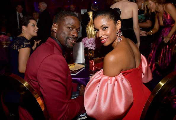 Sterling K. Brown and Susan Kelechi Watson at L.A. Live Event Deck on September 22, 2019 in Los Angeles, California. | Photo: Getty Images