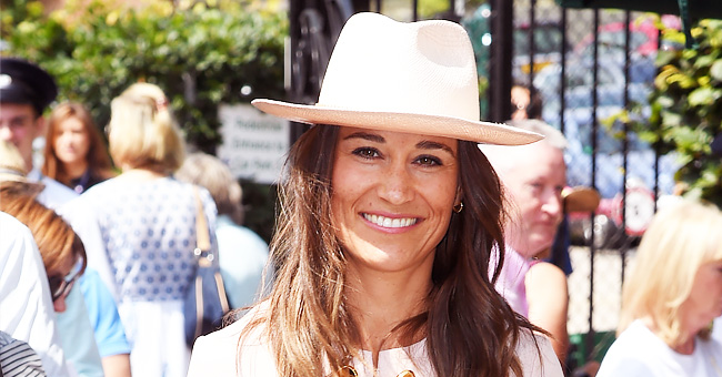 Pippa Middleton Spotted in Pink Stella McCartney Dress and Matching Hat at Wimbledon