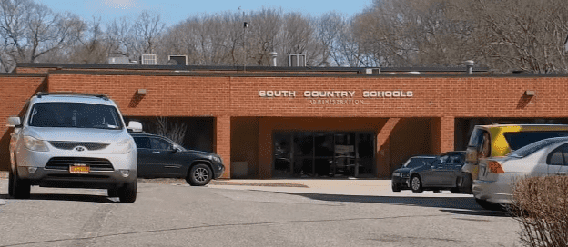 South Country School District Administrative building.   Source: YouTube/Eyewitness News ABC7NY