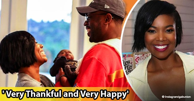 Gabrielle Union and Dwyane Wade are all smiles in photo on their first Thanksgiving  with daughter