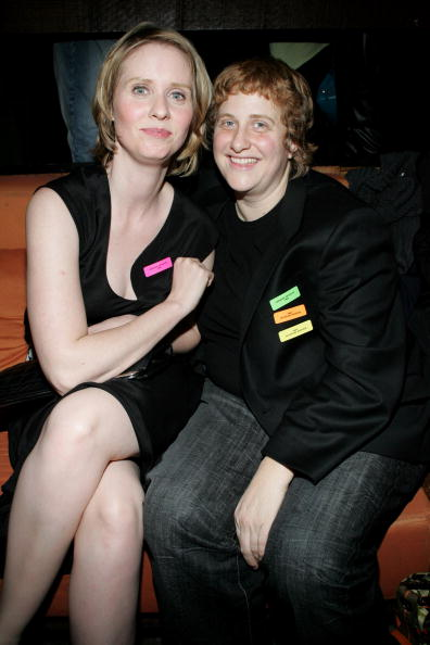 Cynthia Nixon and Christine Marinoni at Cain on February 10, 2005 in New York City   Photo: Getty Images