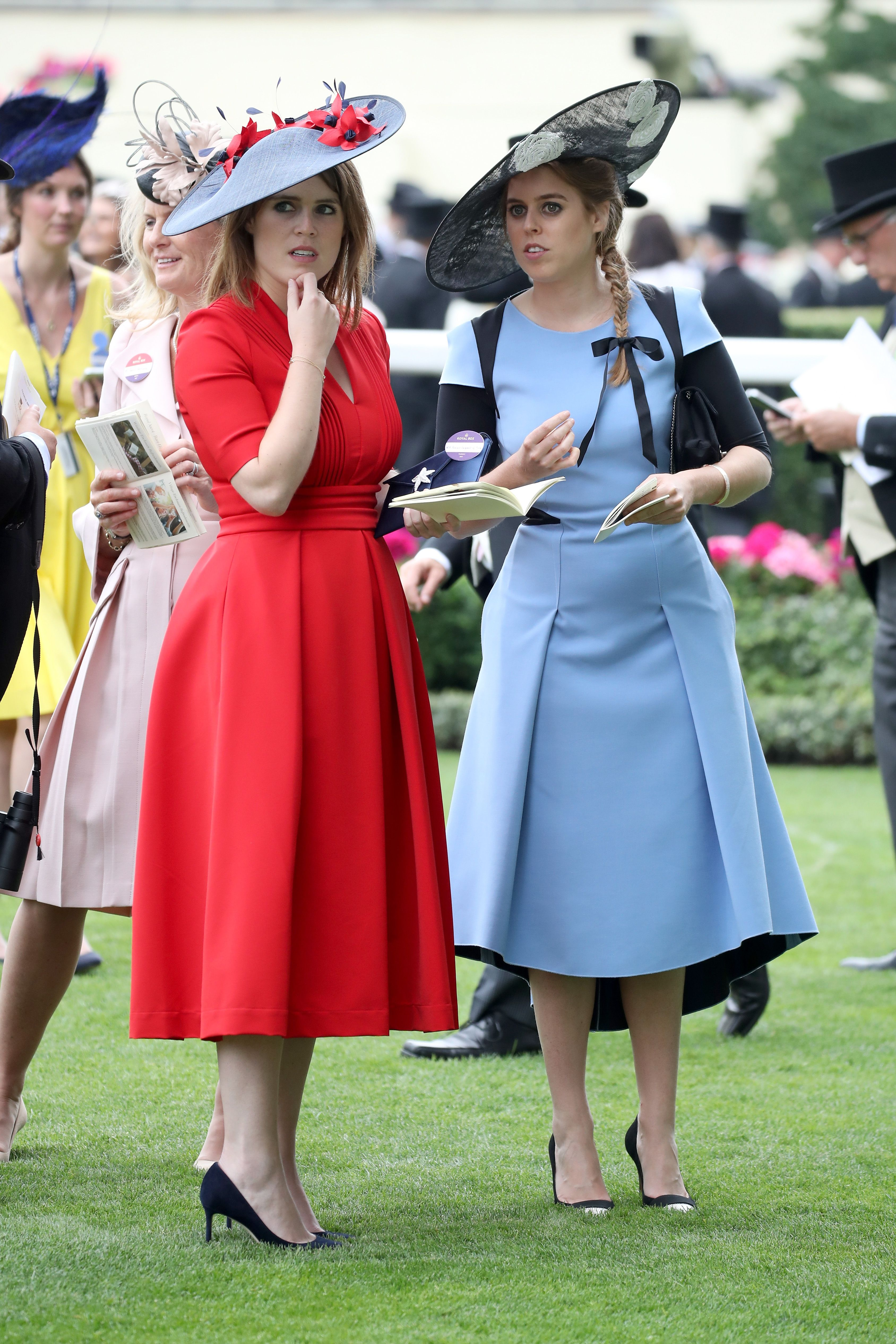 Princess Eugenie and Princess Beatrice of York at the Ascot Racecourse on June 22, 2017, in England | Photo: Chris Jackson/Getty Images