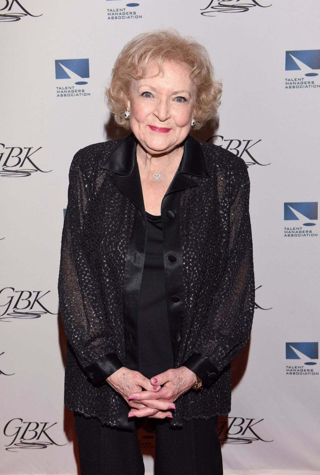 Betty White at The TMA Heller Awards on May 28, 2015 in Century City, California Photo Getty Images