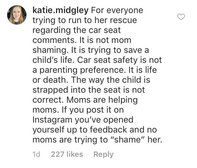 Fan comment on Jill Duggar Dillard's Instagram post. | Source: Instagram/jillmdillard