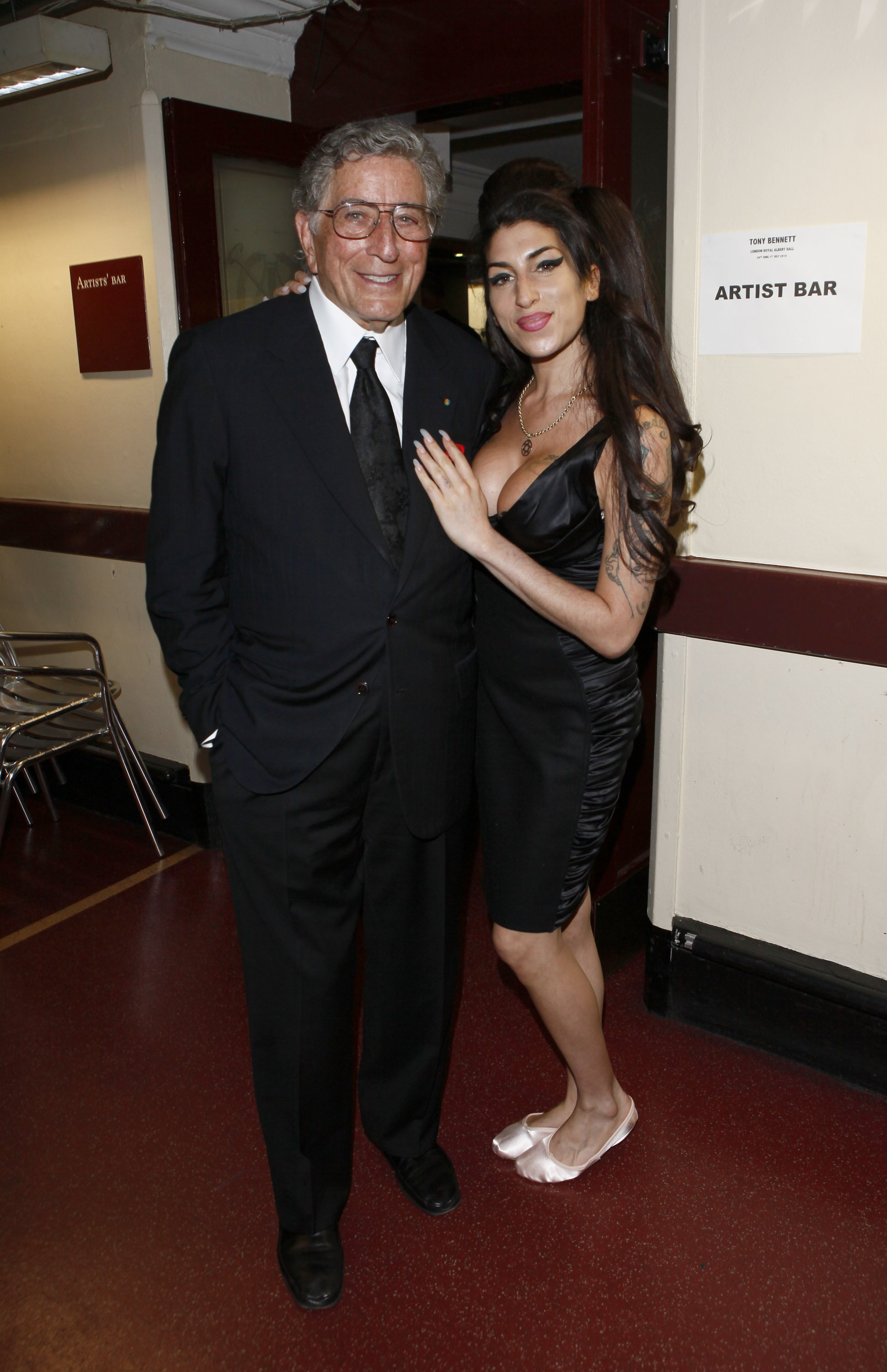 Tony Bennett and Amy Winehouse attend the after show party for Tony Bennett's concert at Royal Albert Hall on July 1, 2010 | Getty Images