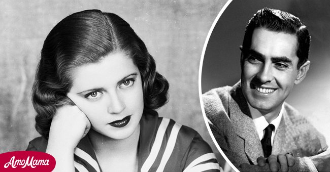 Lana Turner circa 1937 and Tyrone Power in the 1940s   Photo: Getty Images - Wikimedia Commons/Movie studio - eBay (PD)