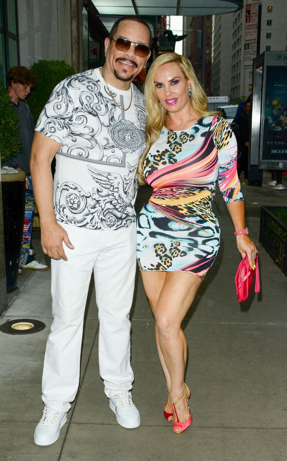 Ice-T and Coco Austin are seen on August 13, 2019, in New York City | Photo:Patricia Schlein/Star Max/GC Images/Getty Images