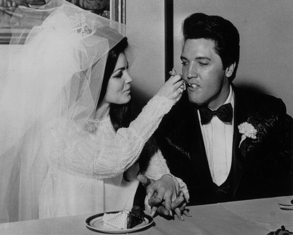 Priscilla and Elvis Presley at the Aladdin Hotel, Las Vegas | Photo: Getty Images