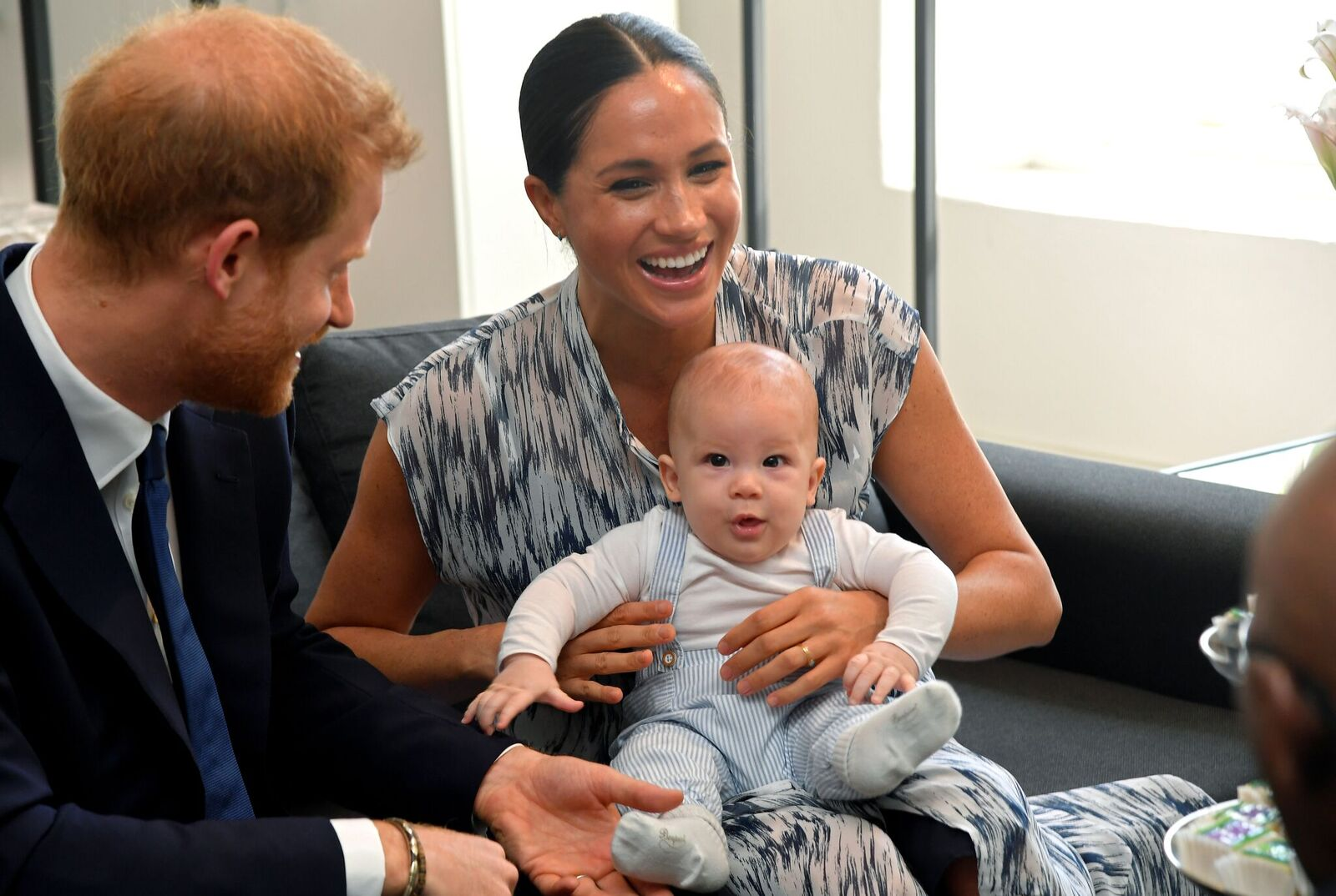 Prince Harry and Duchess Meghan with baby Archie Mountbatten-Windsor at the Desmond & Leah Tutu Legacy Foundation on September 25, 2019, in Cape Town, South Africa | Photo: Getty Images