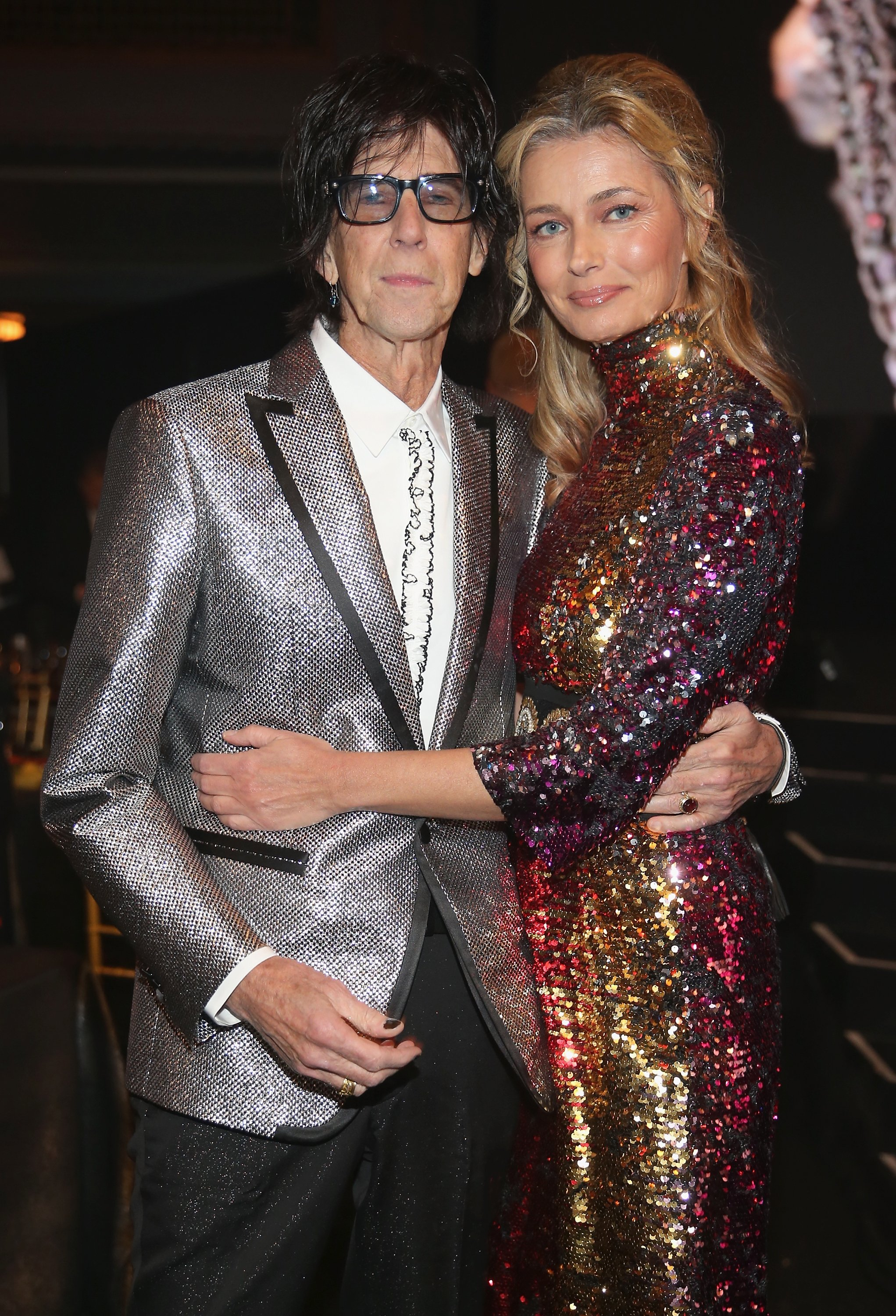 Paulina Porizkova and Ric Ocasek pictured at the 33rd Annual Rock & Roll Hall of Fame Induction Ceremony, 2018, Cleveland, Ohio.   Photo: Getty Images