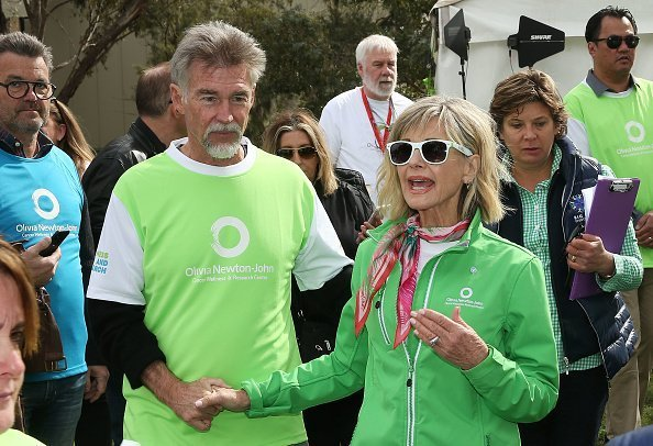 Olivia Newton-John and John Easterling at the annual Wellness Walk and Research Run on September 16, 2018 | Photo; Getty Images
