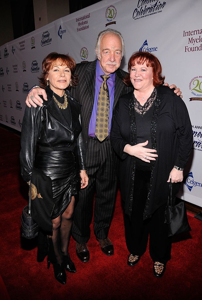 Howard Hesseman and Edie McClurg arrive with Hesseman's wife Caroline Ducrocq at the International Myeloma Foundation's 4th Annual Comedy Celebration | Getty Images