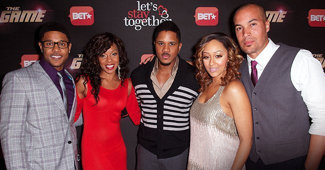 """The Game's"" original cast, lead by Tia Mowry and Pooch Hall / Source: Getty Images"