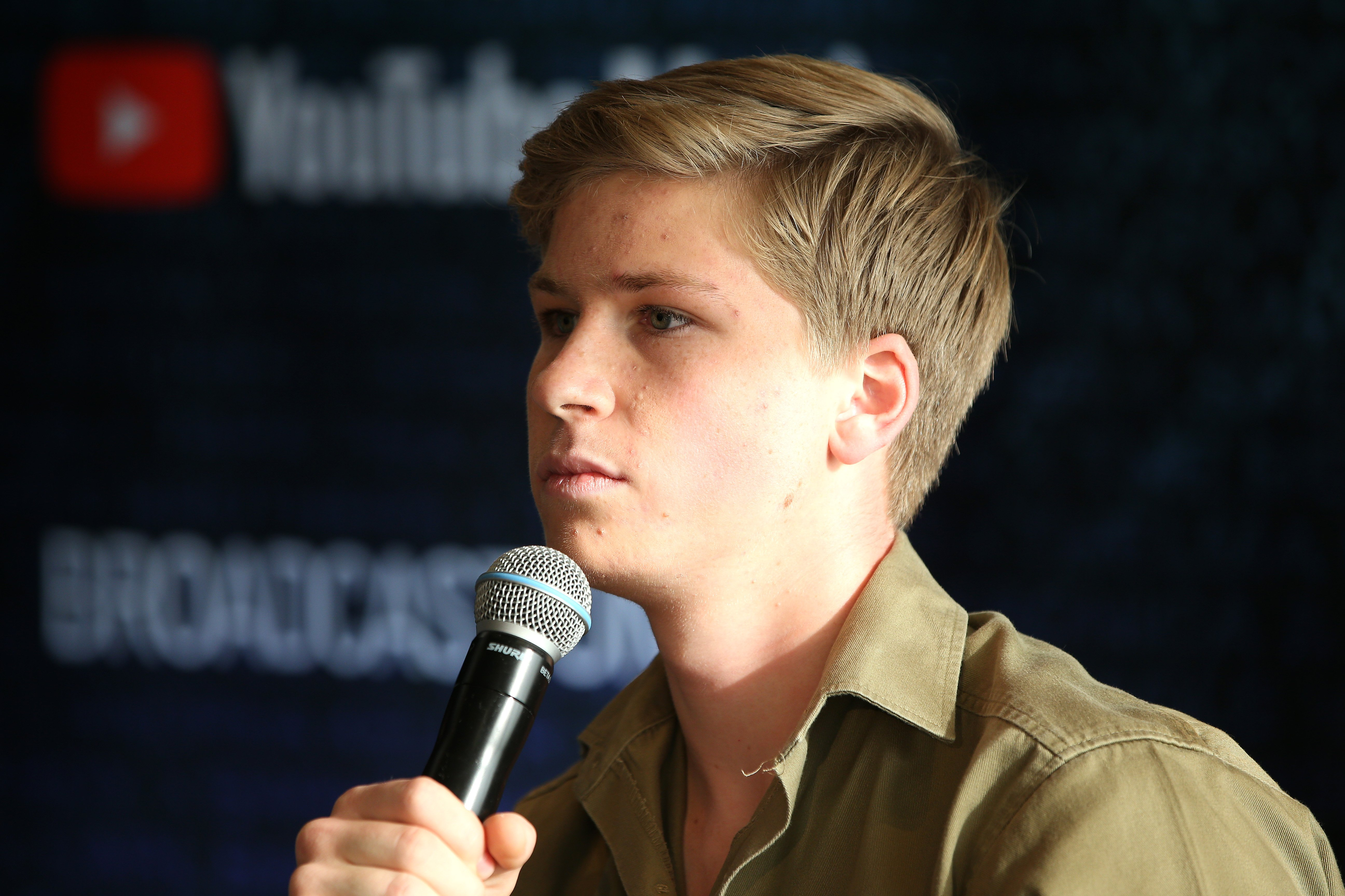 Robert Irwin talks to the media in the awards room during the 33rd Annual ARIA Awards 2019 | Photo: Getty Images