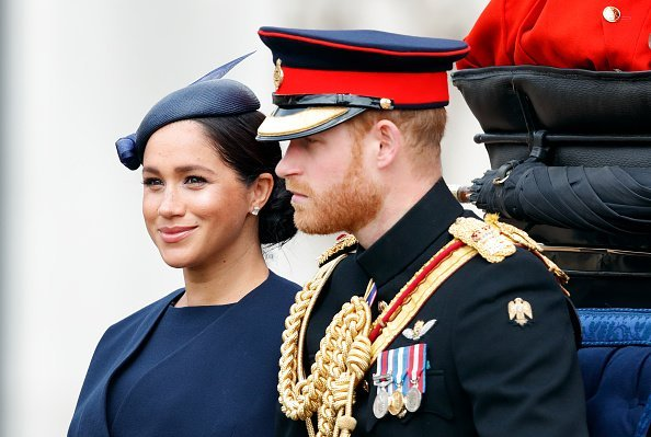 Meghan Markle and Prince Harry travels down The Mall in a horse drawn carriage during Trooping The Colour on June 8, 2019 in London, England | Photo: Getty Images